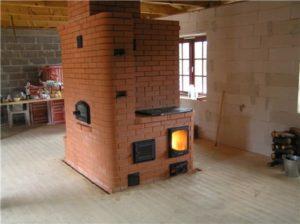 Достаточно широкое распространение получила печь для русской бани из камня