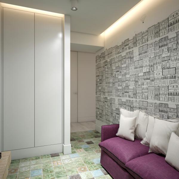 Интерьер квартиры площадью 48 кв.м.