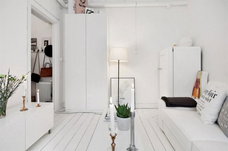 Белоснежная квартира в Стокгольме, Швеция