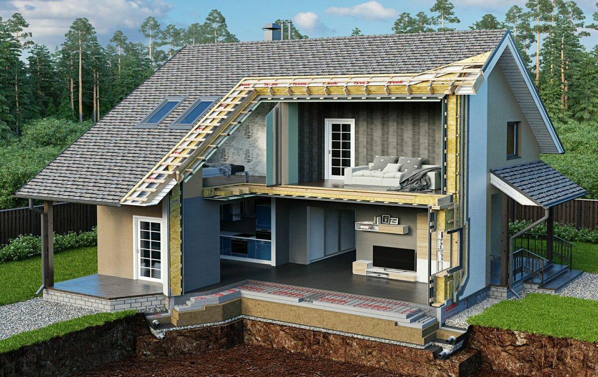 утепляем загородный дом
