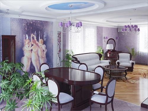 Сиреневые гостиные