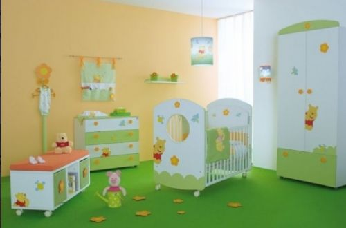 Детские комнаты в зеленых тонах