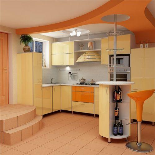 Интерьер кухни 7 кв. м