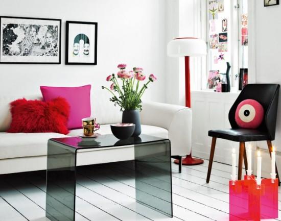 Современный шик дизайна интерьера в розовом цвете от Laura Terp Hansen