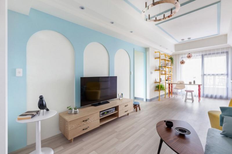 Интерьер квартиры молодой девушки в пастельных оттенках, Тайвань
