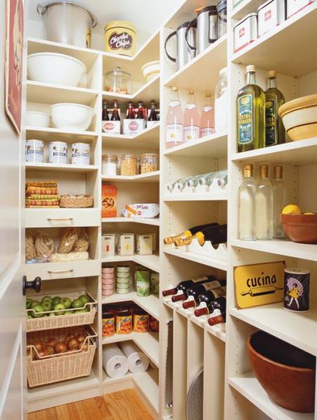 Удобное хранение продуктов на кухне: фото идеи