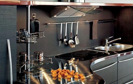 Кухни с кривыми столешницами от Snaidero