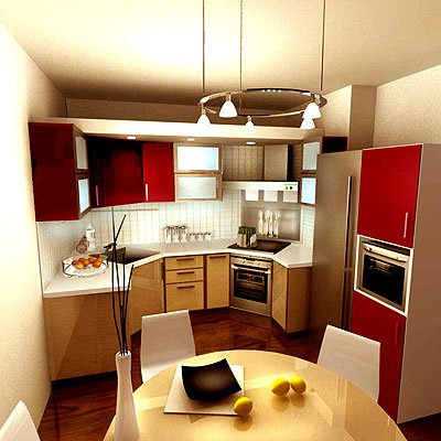 Интерьер кухни 10 кв. м.