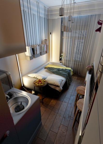 Квартира 15 кв.м.: современный дизайн на минимальной площади