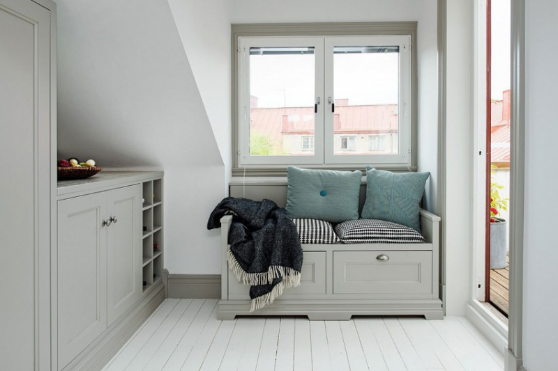 Дизайн квартиры чердачного типа в Гетеборге, Швеция