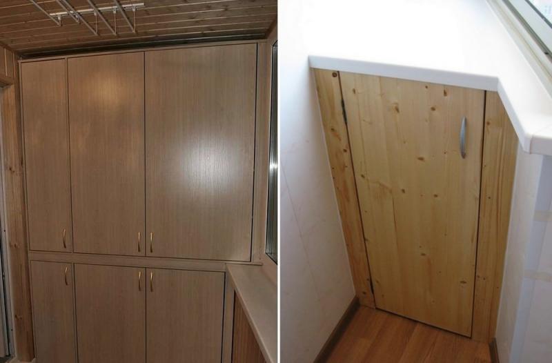 Встроенные шкафы на балкон: эргономика и функционал