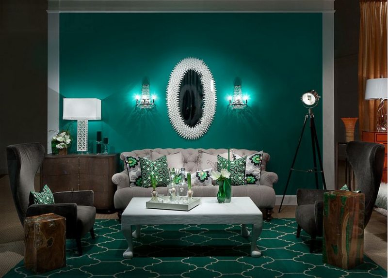 Гостиные в зеленых тонах