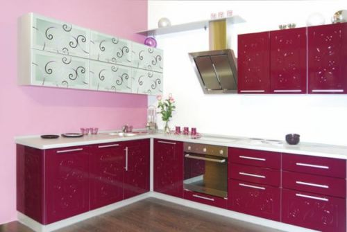 Кухни цвета баклажан