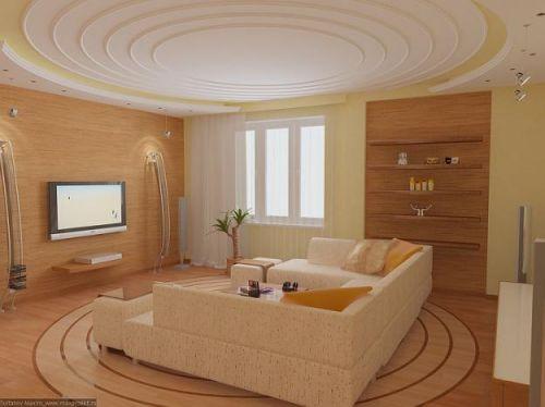Интерьер квадратной гостиной