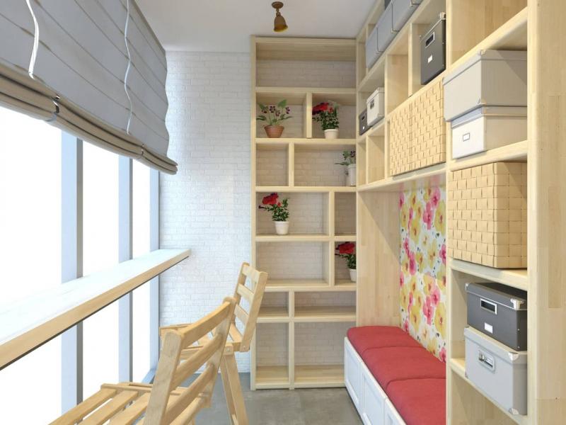 Компактная система хранения на балконе: что и как можно хранить