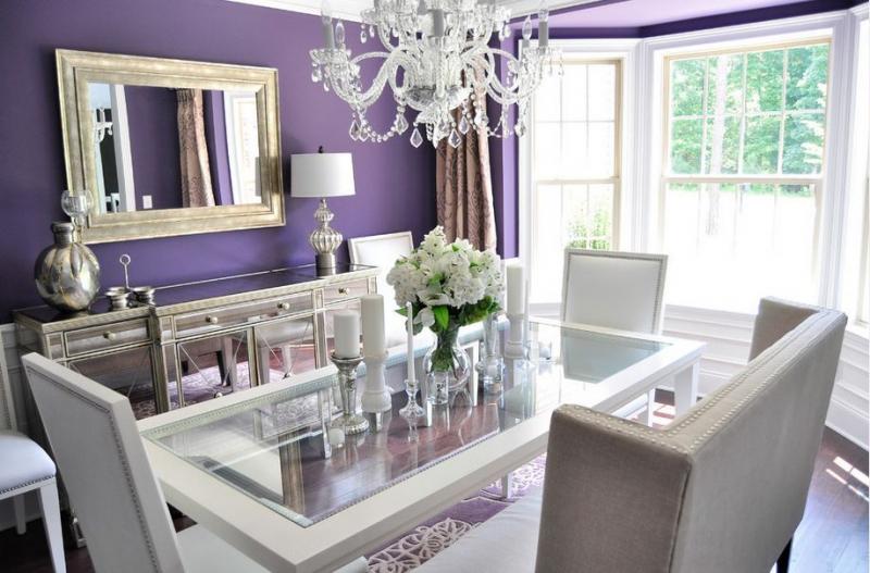 Фиолетовые гостиные