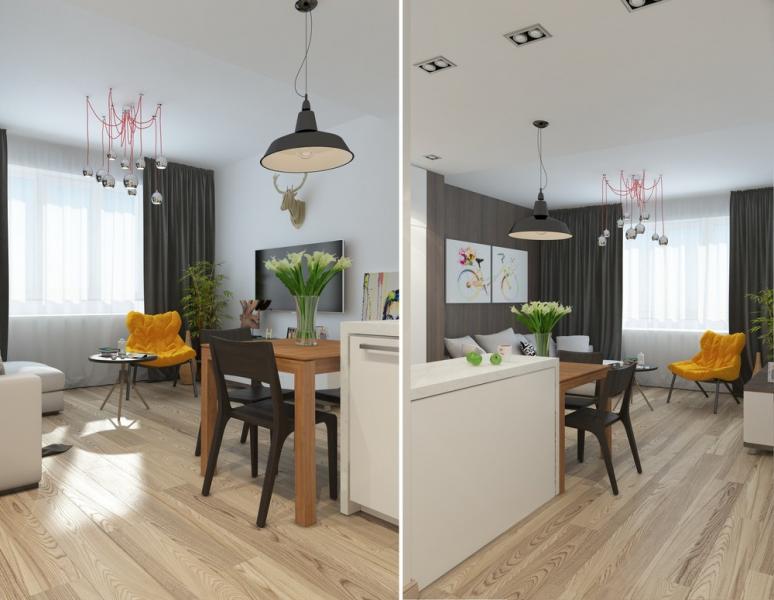 Интерьер малогабаритной двухкомнатной квартиры