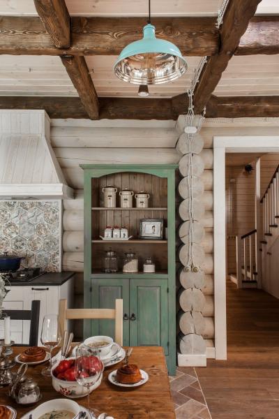 Дизайн загородного деревянного дома в Подмосковье