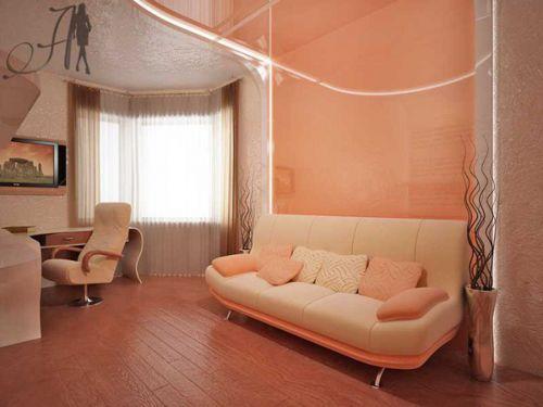 Персиковые гостиные