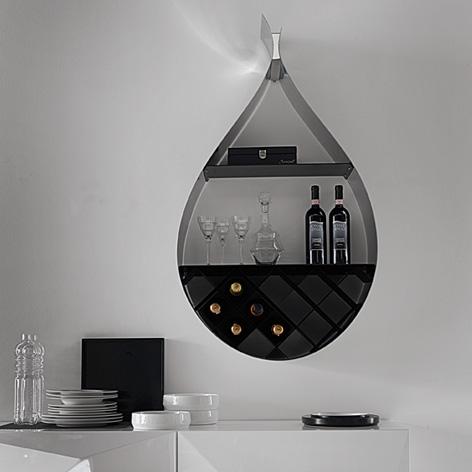 Настенный винный шкаф