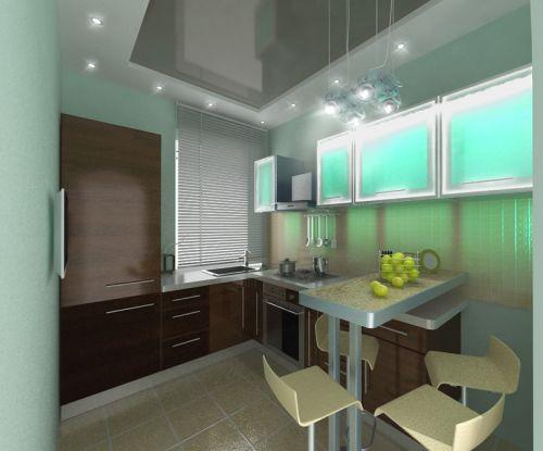 Интерьер кухни 8 кв. м