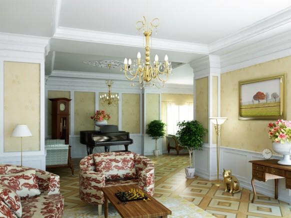 10 гостиных в стиле ретро