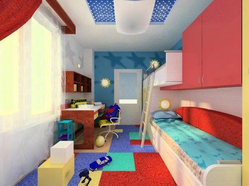 Дизайн узкой детской