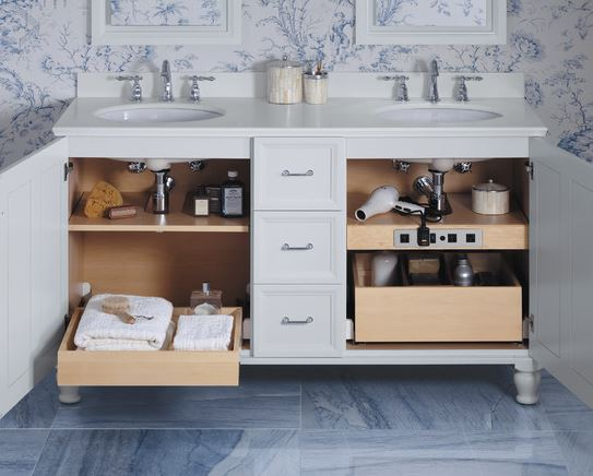 Хранение в ванной: фото идеи