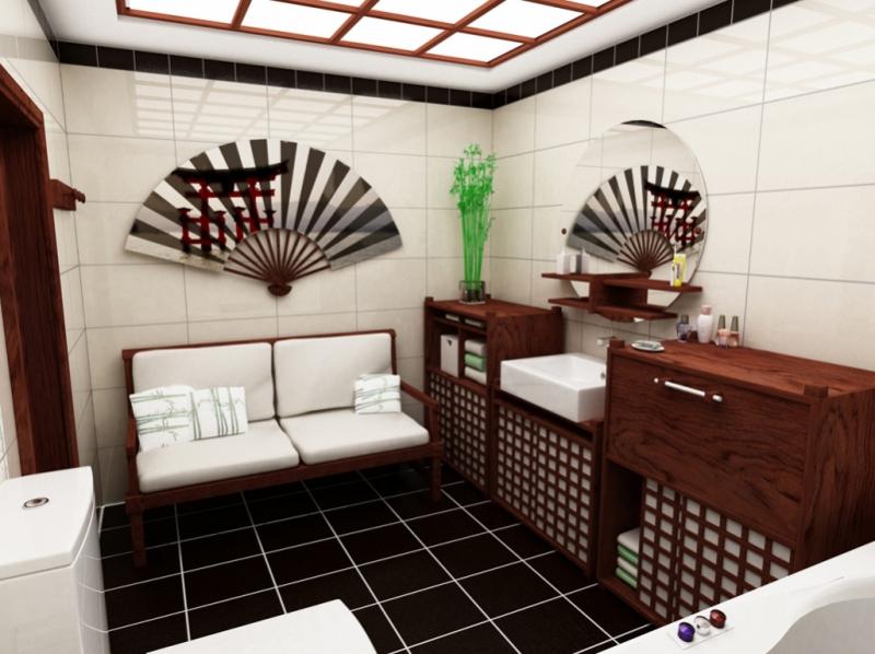 Ванные комнаты в японском стиле