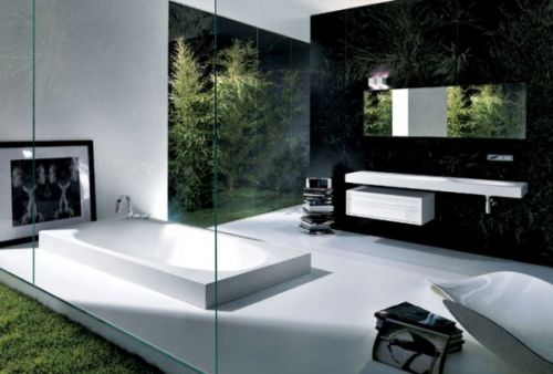 Зеркальные ванные