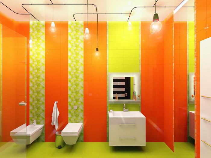 Оранжевые ванные