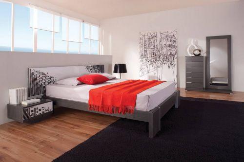 Черно-красная спальня