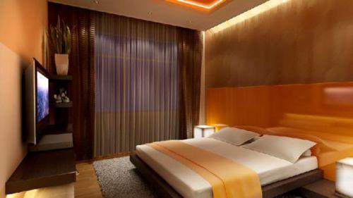 Квадратная спальня