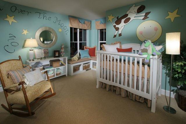 Детские комнаты для новорожденных