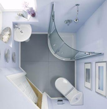 Интерьер ванной с душевой кабиной