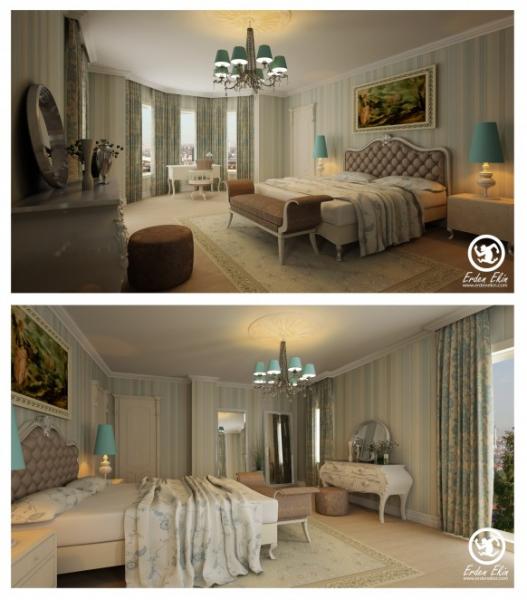 Яркие интерьеры спален