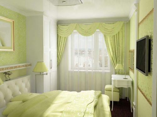 Салатовые спальни