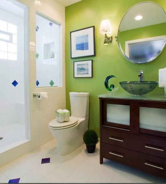 Зеленая ванная