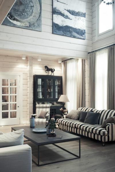Деревянный дом в аутентичном европейском стиле