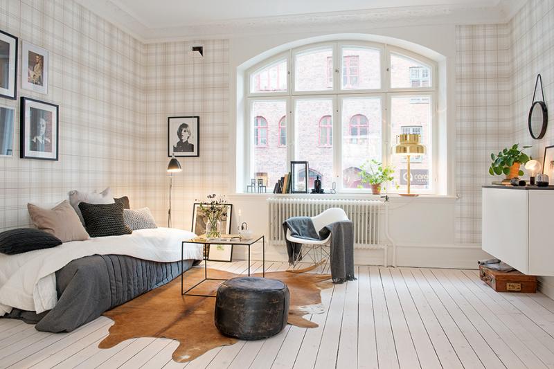 Интерьер квартиры 44 кв.м. в Стокгольме