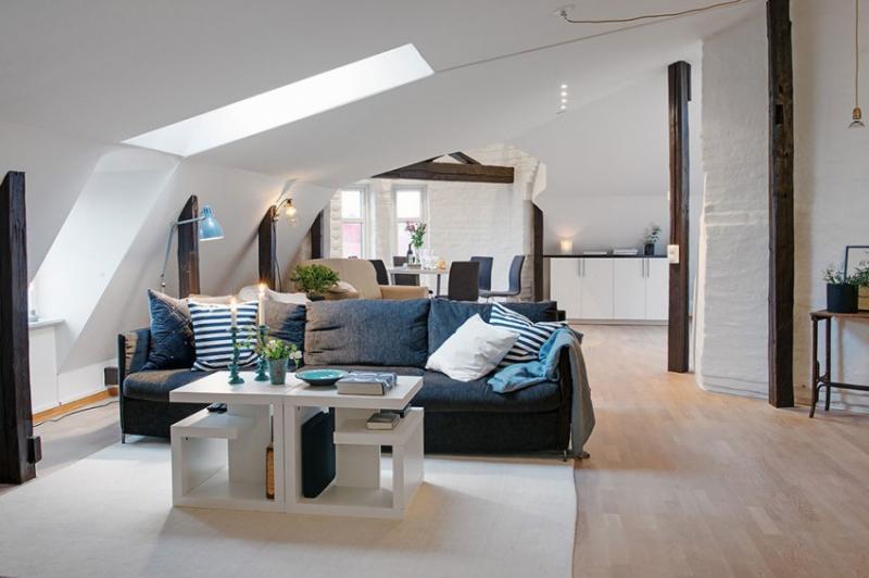 Дизайн квартиры с эркером Гётеборг, Швеция
