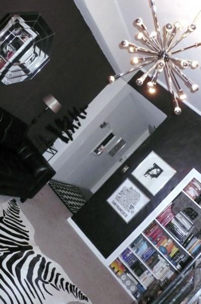 Гостиная в черных тонах