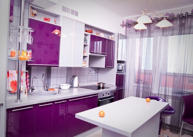 Фиолетовые Кухни
