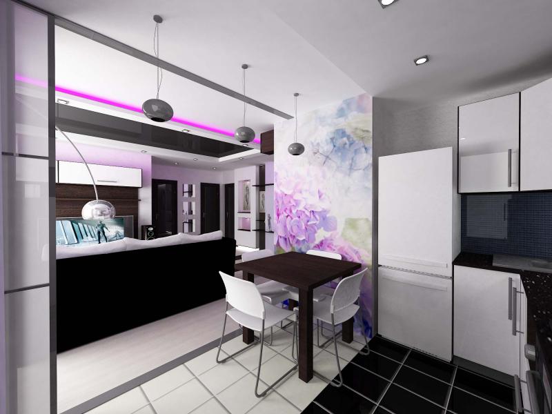 Дизайн квартиры 50 кв.м.