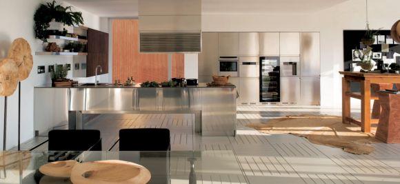 Кухни в стальном стиле
