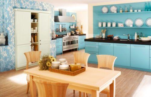 Синие кухни
