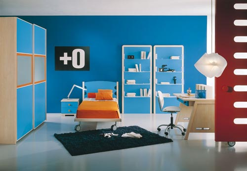 Интерьеры спален в синих тонах