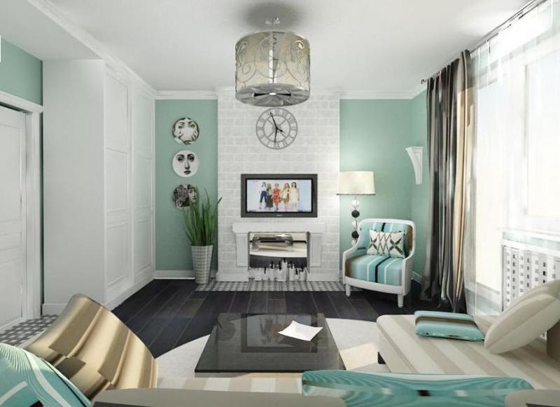 Интерьер трехкомнатной квартиры 97 серии