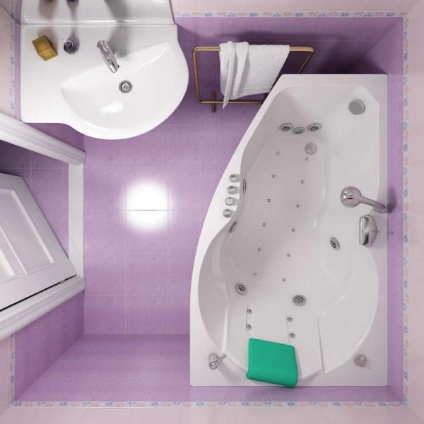 Асимметричные ванны