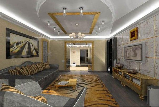 Интерьер гостиной 25 кв.м.